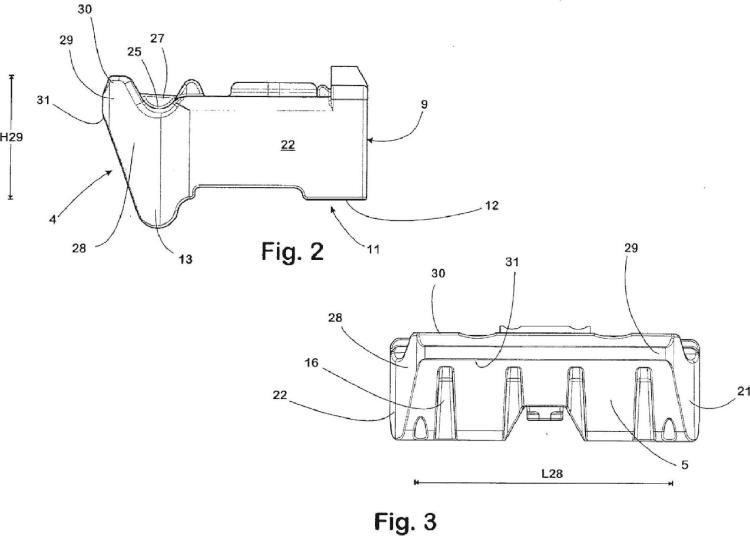 Placa de guía para el guiado lateral de un carril y sistema para la fijación de un carril.