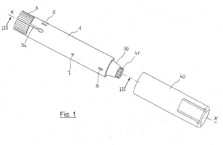 Dispositivo para la inyección automática de dos dosis de un medicamento.