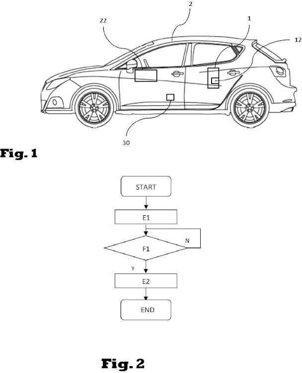 Procedimiento para la detección de un olvido de un dispositivo electrónico móvil en el interior de un vehículo.