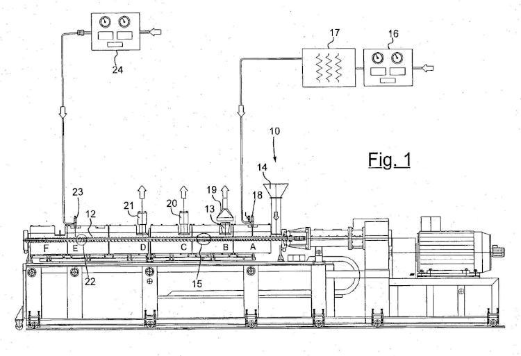 Proceso y equipo de extrusión de espuma de poliéster que pueden ser utilizados en plantas para la fabricación de láminas, planchas o tubos de espuma de poliéster.