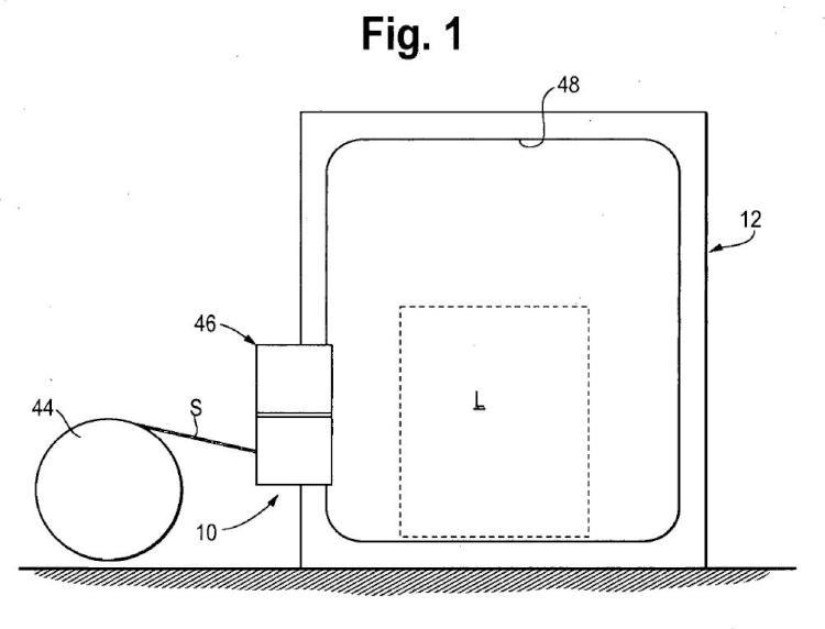 Cabeza modular de alimentación para una máquina de flejar con motor de inversión.
