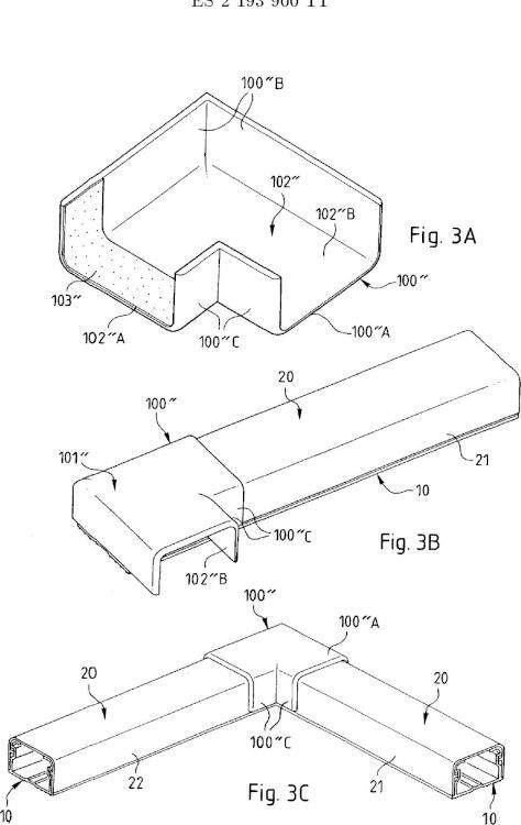Ilustración 3 de la Galería de ilustraciones de Accesorio para canaleta que comprende medios adhesivos sobre un tramo de tapa