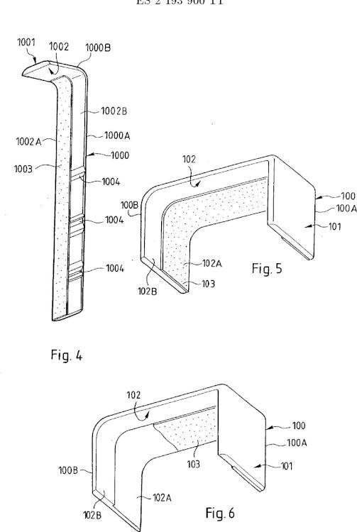 Ilustración 4 de la Galería de ilustraciones de Accesorio para canaleta que comprende medios adhesivos sobre un tramo de tapa
