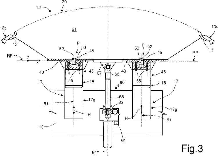 Ilustración 3 de la Galería de ilustraciones de Sistema de posicionamiento de sectores de un dispositivo para producir un fuselaje de avión
