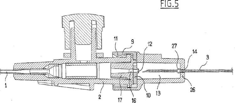 Ilustración 5 de la Galería de ilustraciones de Dispositivo con órgano de seguridad deslizante para la colocación de una cánula en una vena