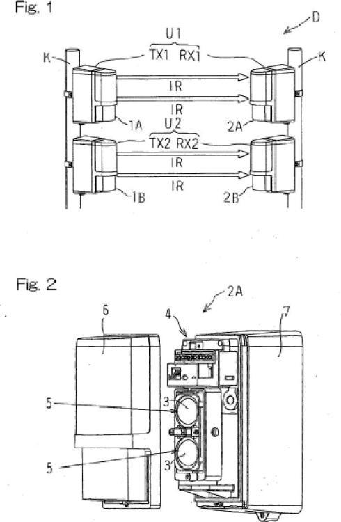 Dispositivo de detección de objetos operado por batería.