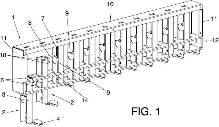 Estructura de sustentación y transporte de piezas.