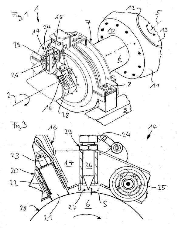 Dispositivo de transmisión para una turbina eólica.