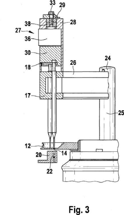 Dispositivo para dosificar material de relleno en forma de polvo.