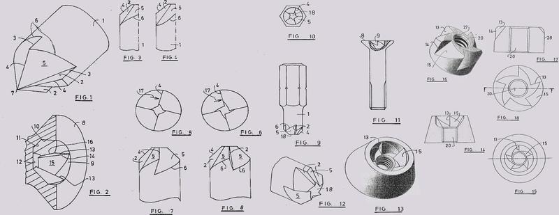 Estructura de accionamiento para tornillos.