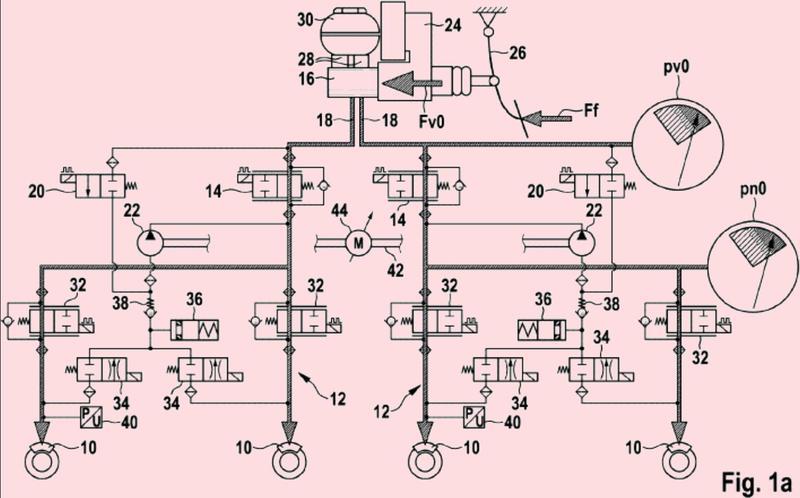 Dispositivo de control y método para transferir líquido de freno hacia al menos un cilindro de freno de rueda de un sistema de frenado de un vehículo.