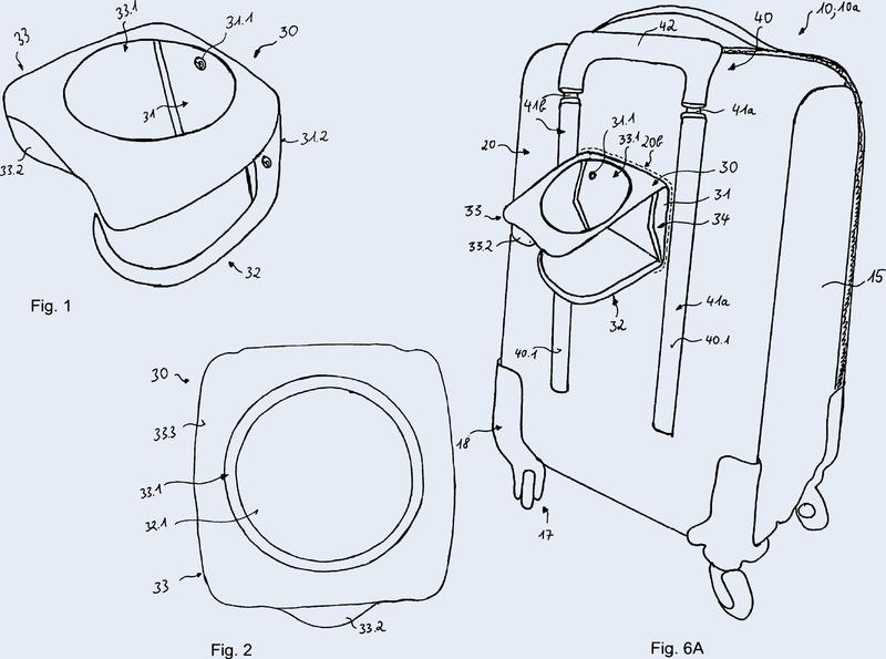 Carcasa de maleta o maleta con dispositivo portaobjetos integrado y procedimiento de fabricación.