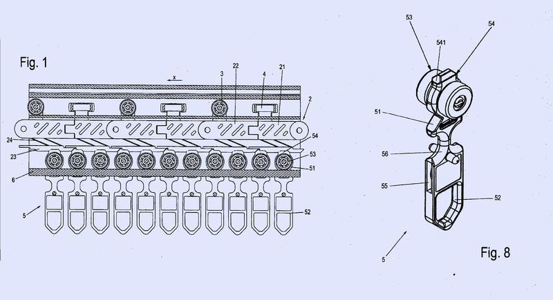 Eslabón de cadena de una cadena de transporte, cadena de transporte de un dispositivo de transporte y dispositivo de transporte.