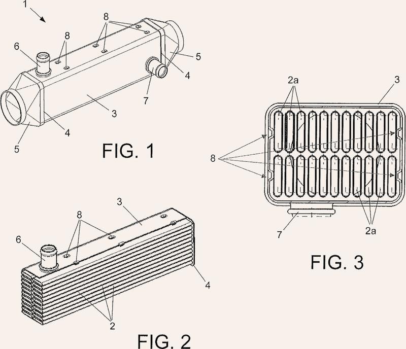 Intercambiador de calor para gases, en particular para los gases de escape de un motor.