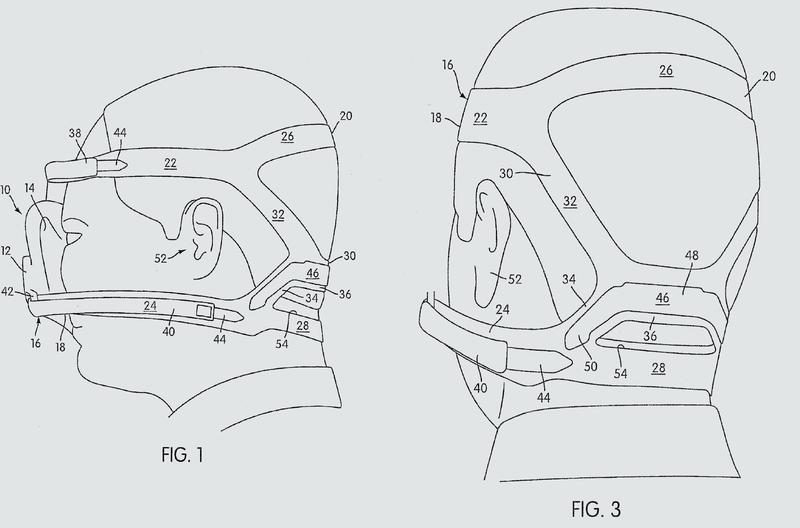 Conjunto de cascos para un conjunto de mascarilla respiratoria.