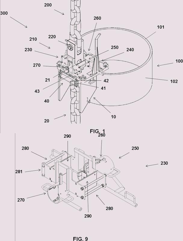 Conjunto de amarre de un pilote con una línea de fondeo y método implementado con dicho conjunto.