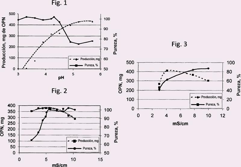 Método para aislar osteopontina usando alimentaciones que contienen caseinomacropéptido (CMP).