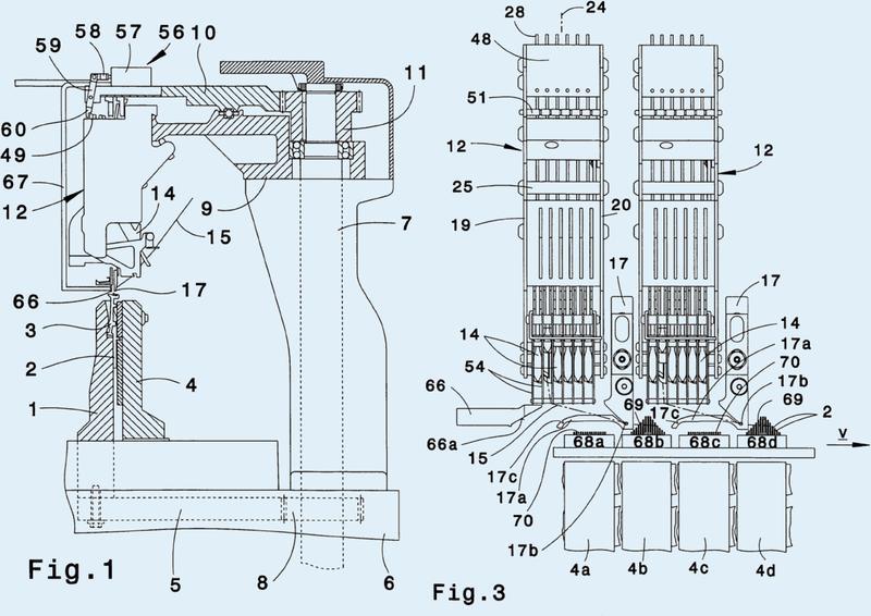 Procedimiento y máquina tricotosa para la fabricación de géneros de punto con dibujos listados.