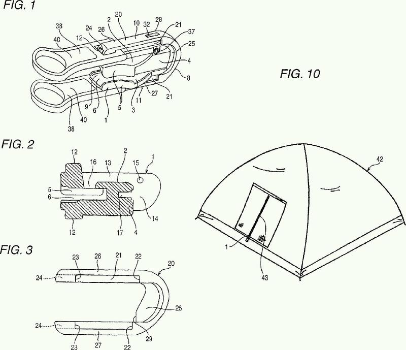 Cursor para cierre de cremallera de doble cara provisto de dispositivo de bloqueo automático.