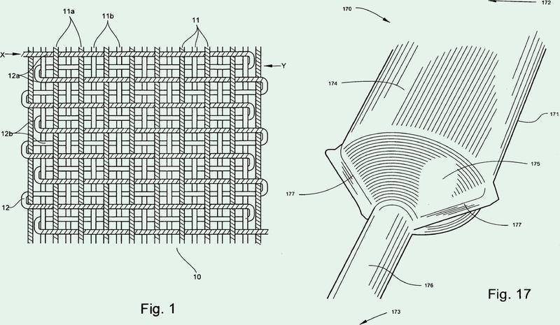 Dispositivo médico textil con una transición cónica y método de fabricación.