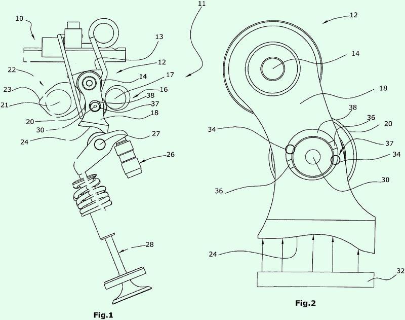 Disposición de ajuste de recorrido de válvula para una disposición de accionamiento de válvula controlable mecánicamente, así como procedimiento para alinear una disposición de palanca intermedia.