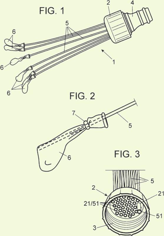 Dispositivo para llenar globos de agua.