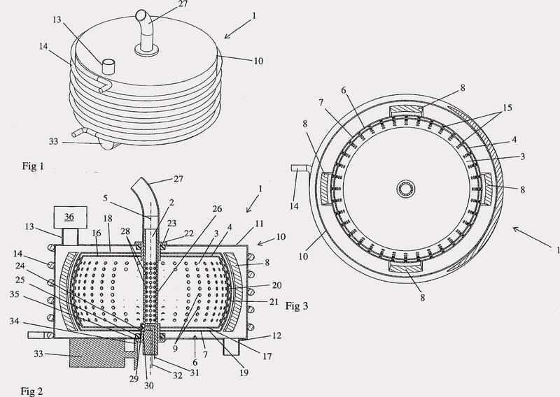Dispositivo de desalación con medios de aplicación de un voltaje.