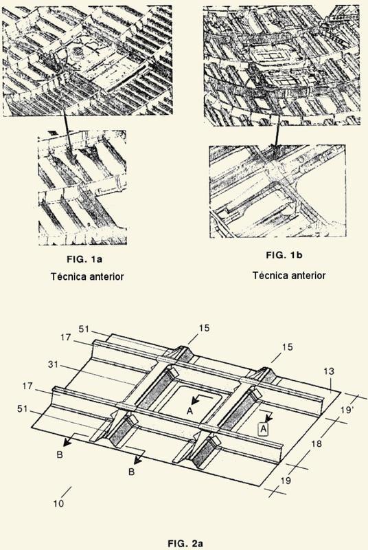 Estructura aeronáutica con elementos de refuerzo integrados.