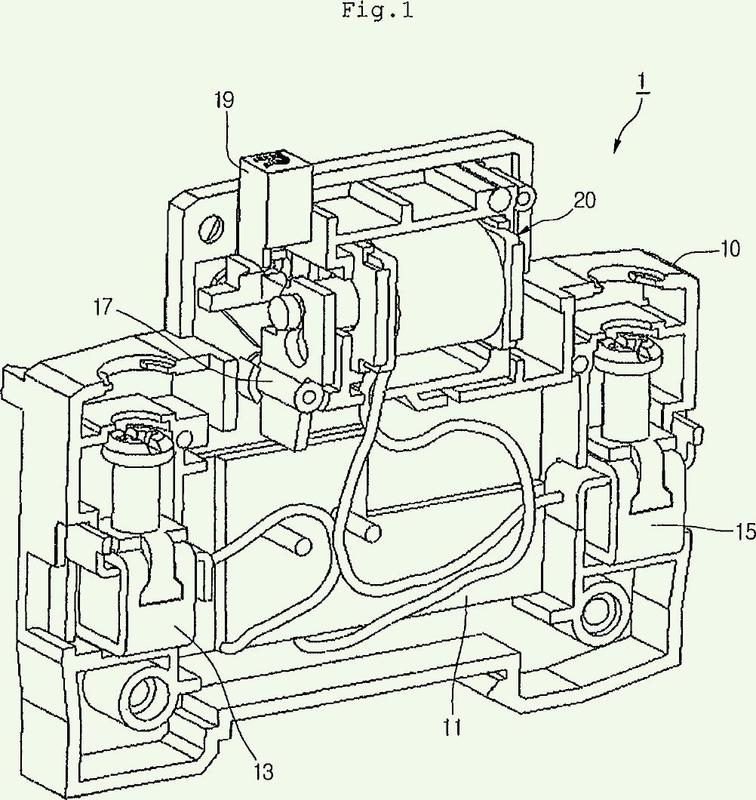 Dispositivo de disparo por tensión insuficiente de disyuntor de caja moldeada.