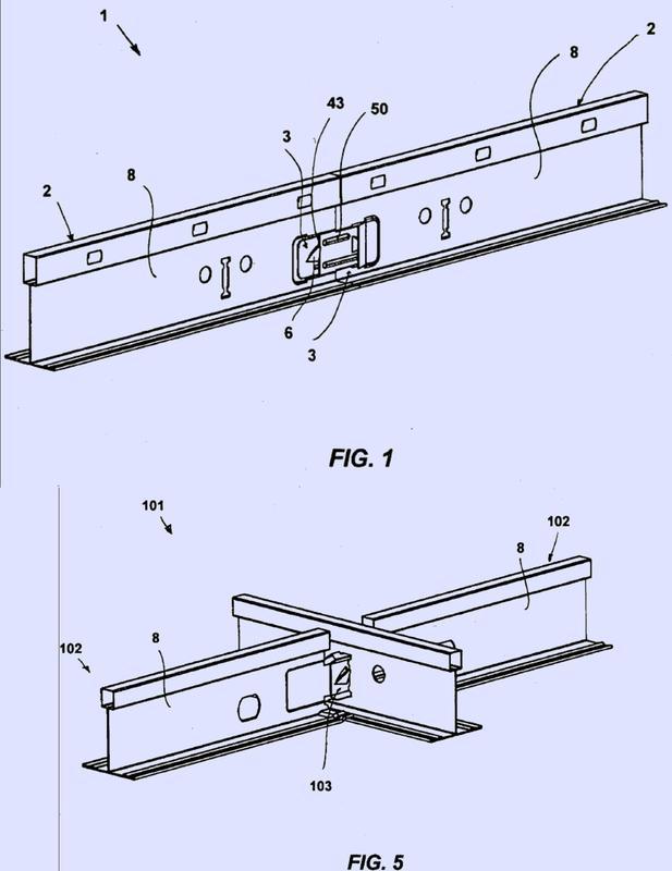 Estructura metálica de soporte para un falso techo.