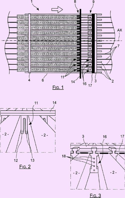 Banco de fabricación de viguetas mediante extrusión.