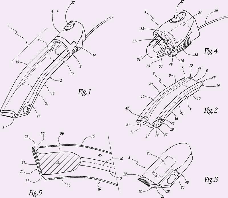 Maquinilla cortadora de pelo corporal aspirante.