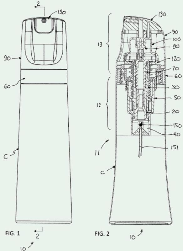 Mecanismo de bomba de pulverización de duración de descarga activada con una vuelta.