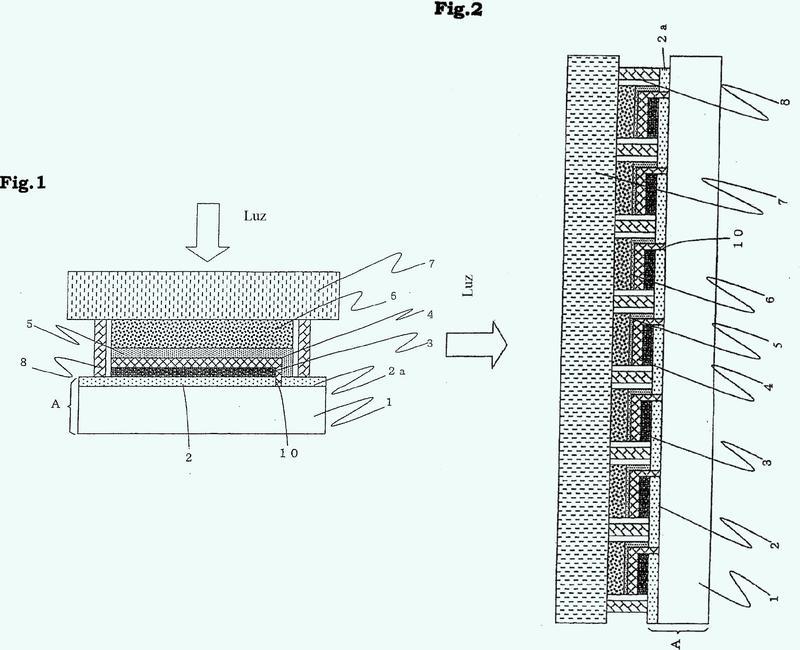 Módulo de célula solar fotosensibilizada y método para la fabricación del mismo.