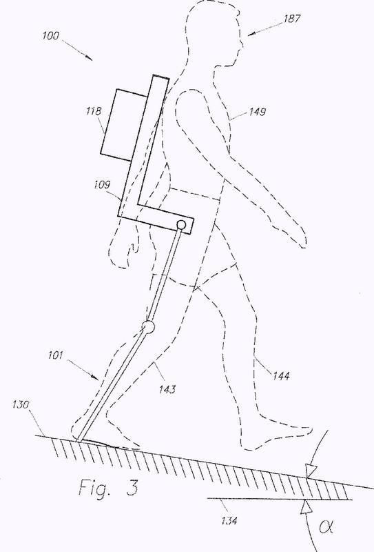 Dispositivo y método para disminuir el consumo de energía de una persona mediante el uso de un exoesqueleto de extremidad inferior.