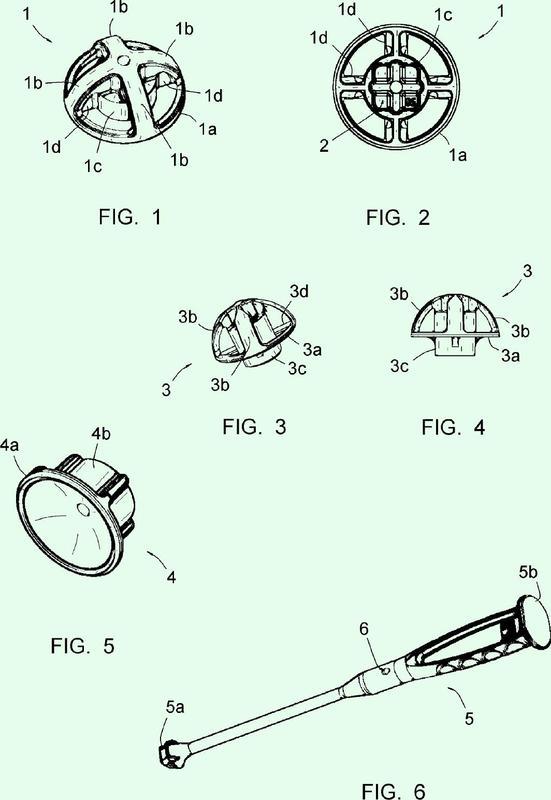 Estructura de envasado de implantes acetabulares y de instrumentos de colocación de estos implantes.