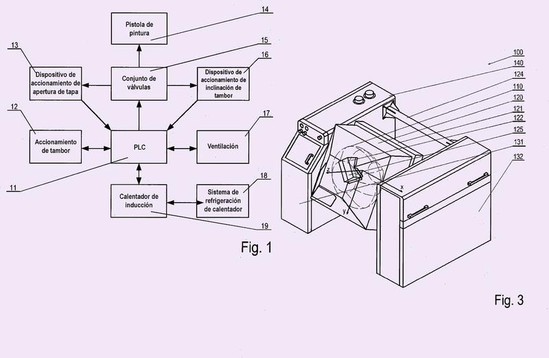 Dispositivo de aplicación de revestimiento de pintura y método de aplicación de revestimiento de pintura.
