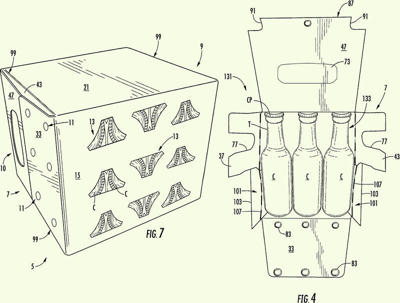 Caja de cartón con características de protección de los artículos.