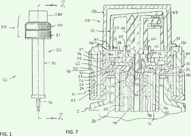 Mecanismo de bomba de pulverización de duración accionada por un giro.