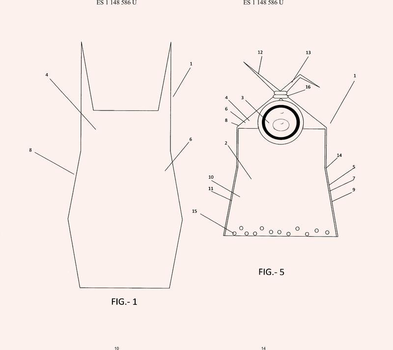 Saquito / soporte para la toma de biberones.