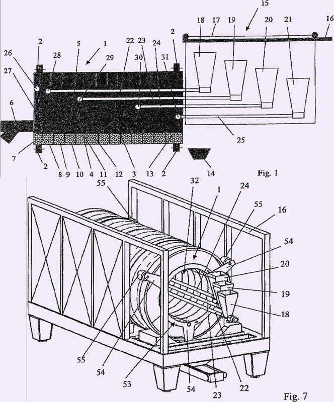 Dispositivo para el revestimiento continuo de núcleos con un dispositivo de drageado.