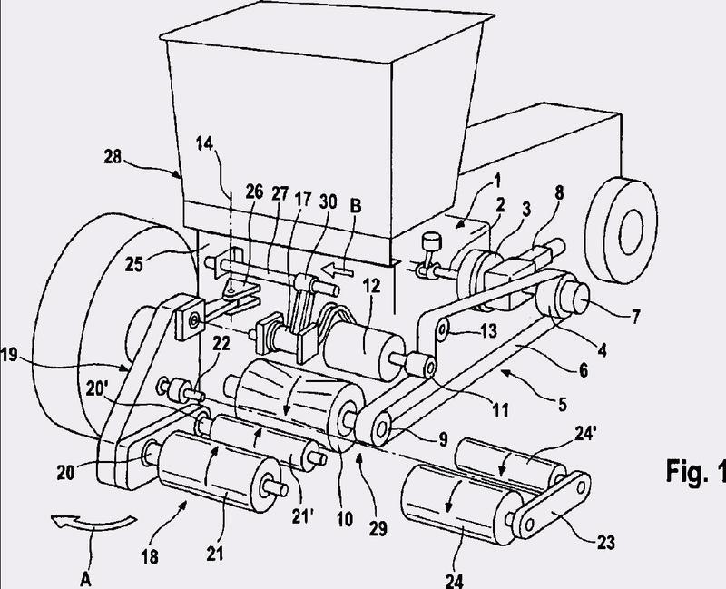 Máquina de trabajo agrícola, en particular recogedora-picadora de forraje.