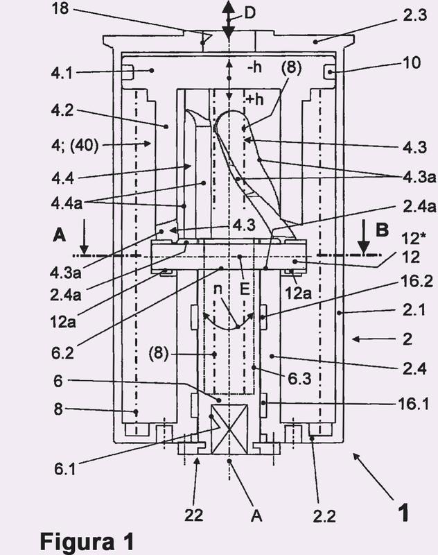 Dispositivo de accionamiento para un elemento de cierre giratorio de una válvula.