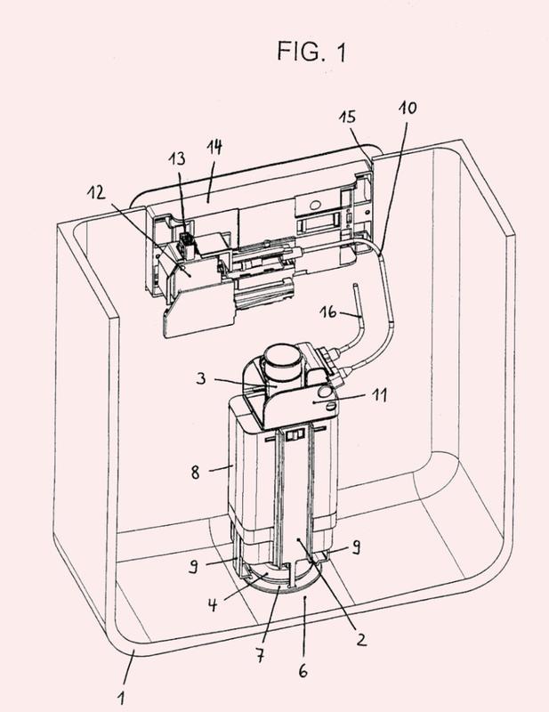 Dispositivo para el accionamiento de una válvula de desagüe sanitaria, en particular de válvula de desagüe de cisterna o de bañera.