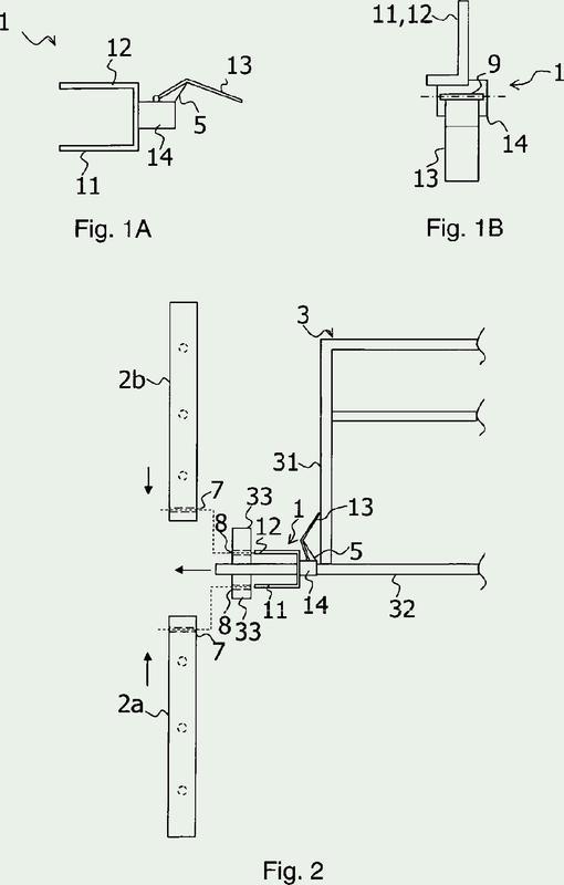 Dispositivo de enclavamiento para marcos de andamiajes y torres de apuntalamiento.