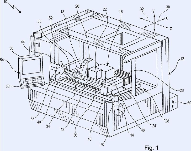 Máquina herramienta, en particular máquina rectificadora y soporte de piezas de trabajo para una máquina herramienta.