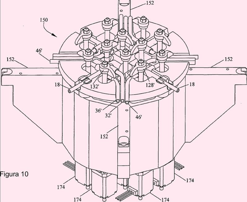 Procesador de sangre de múltiples unidades con válvulas giratorias.