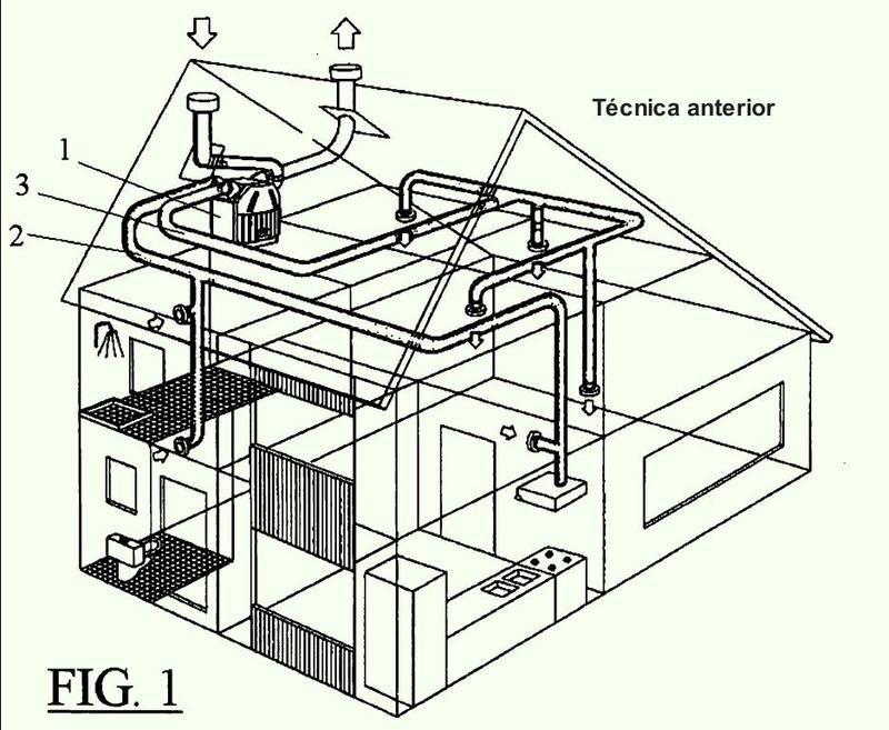 Método y sistema de ventilación de una edificación.