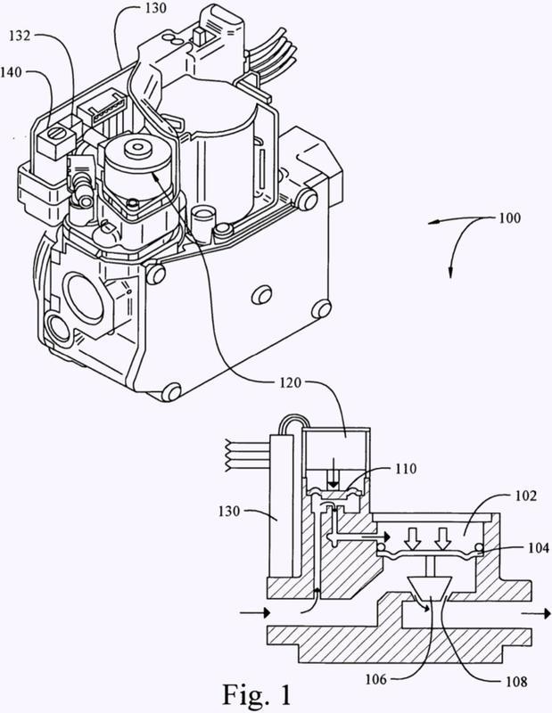 Válvula de gas de motor paso a paso.