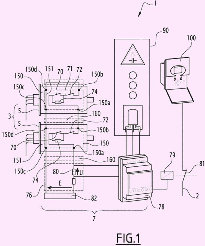Sistema de vigilancia de una batería de condensadores e instalación eléctrica que consta de dicho sistema.
